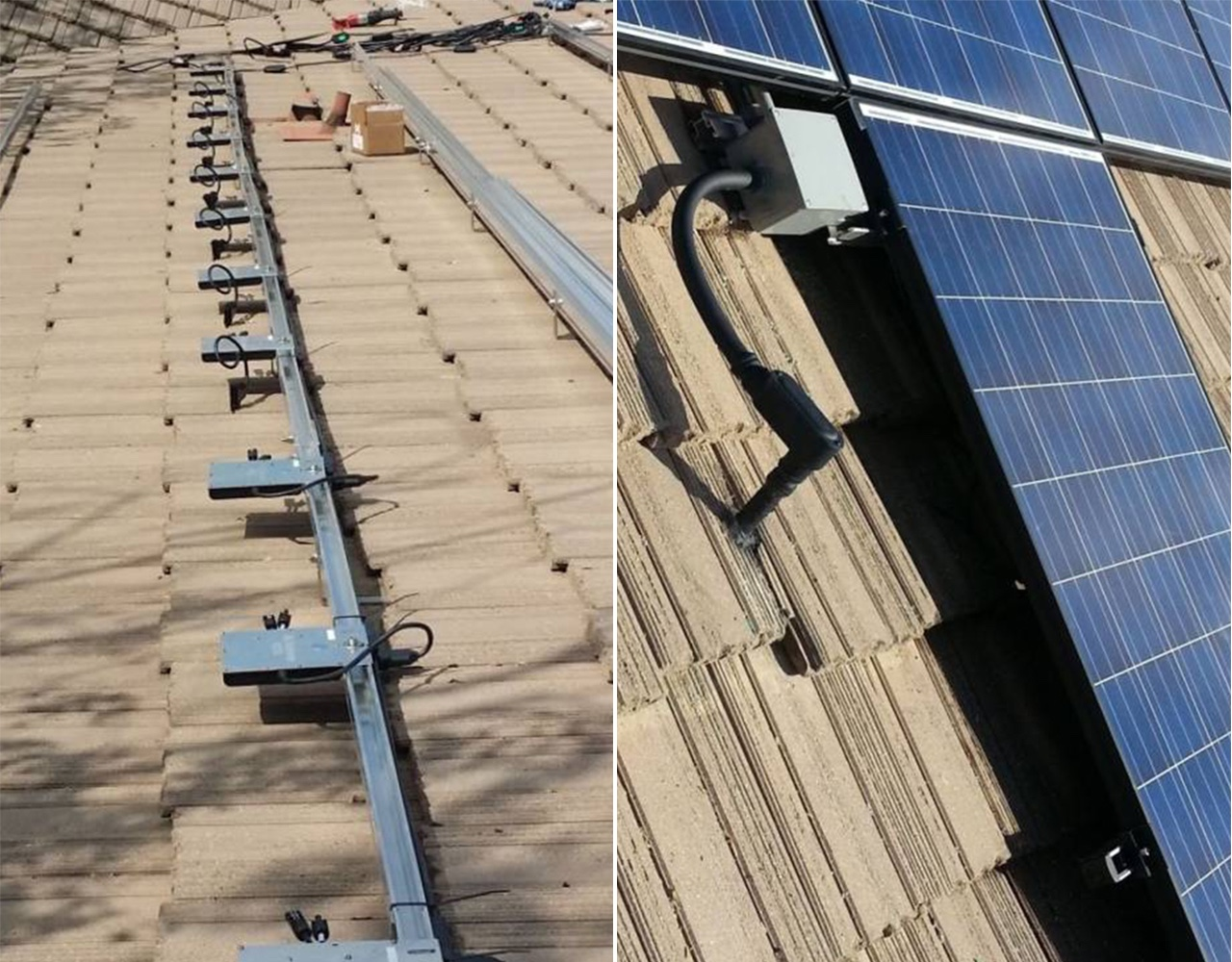 Image of New Solar installation at Upland